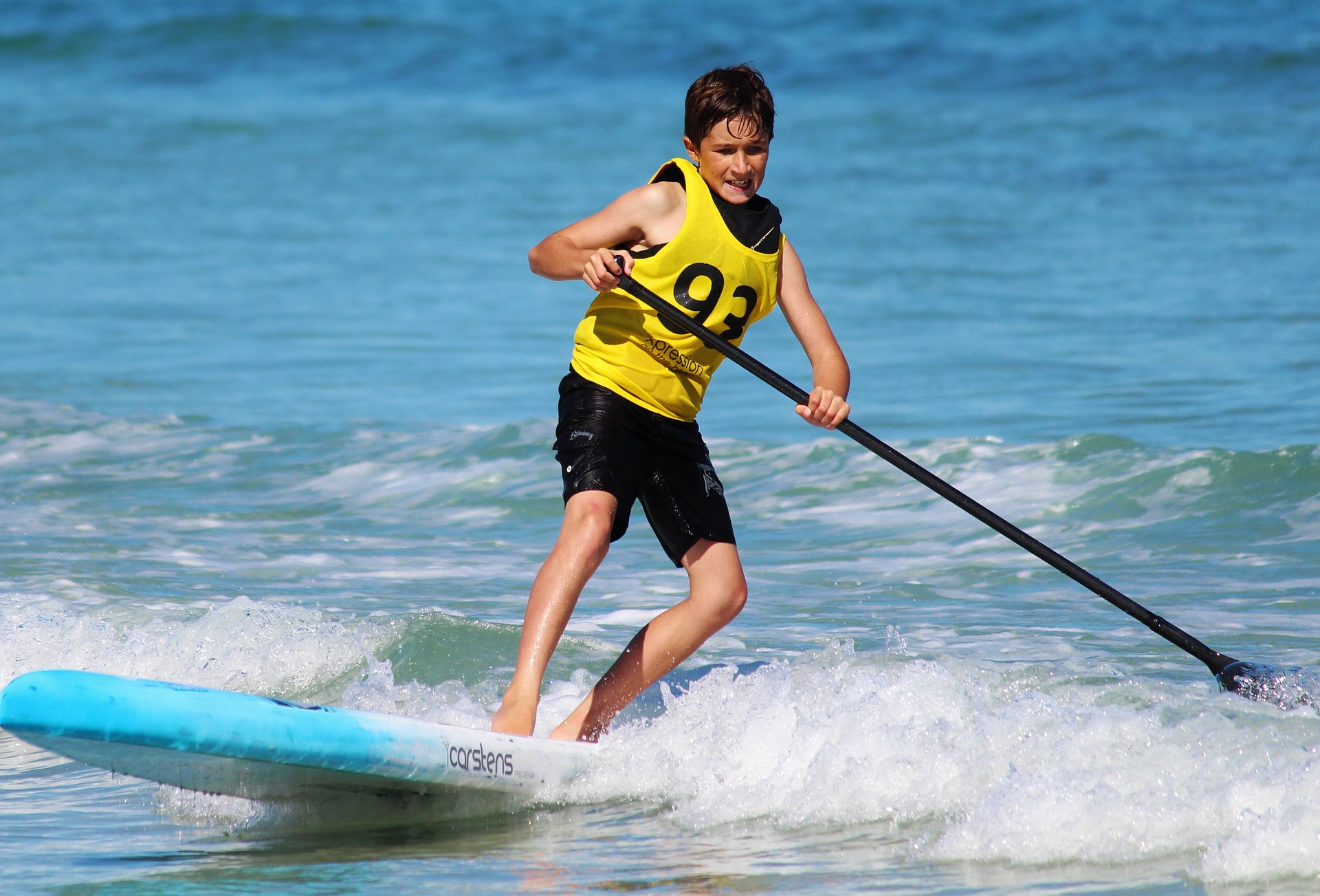 colonie de vacances stand up paddle